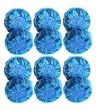 Toilet Bowl Cleaner Tablet Drop-ins Antibacterial Automatic Toliet Bowl Bathroom Blue Cleaner Tablets, 12 Pieces