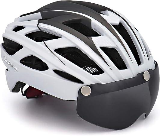 VICTGOAL Casco Bicicleta de Montaña con Visera Magnética Desmontable Casco Protector UV Ligero Unisex Casco Bici para Hombres/Mujeres Adultos