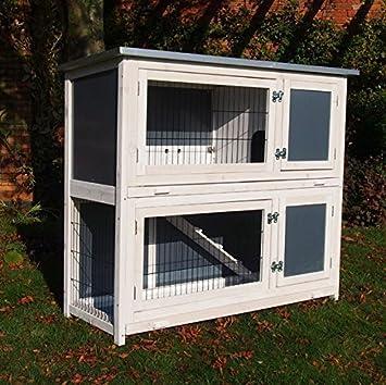 FeelGoodUK RHL - Híbrido - Doble Jaula para Cerdos de Guinea, caseta para Conejos: Amazon.es: Productos para mascotas