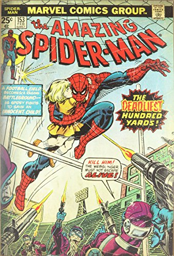 Silver Buffalo MC9036 Marvel Amazing Spiderman Deadliest Hundred Yards Comic Book Cover Wood Wall Art Plaque, 13 x19 inches ()