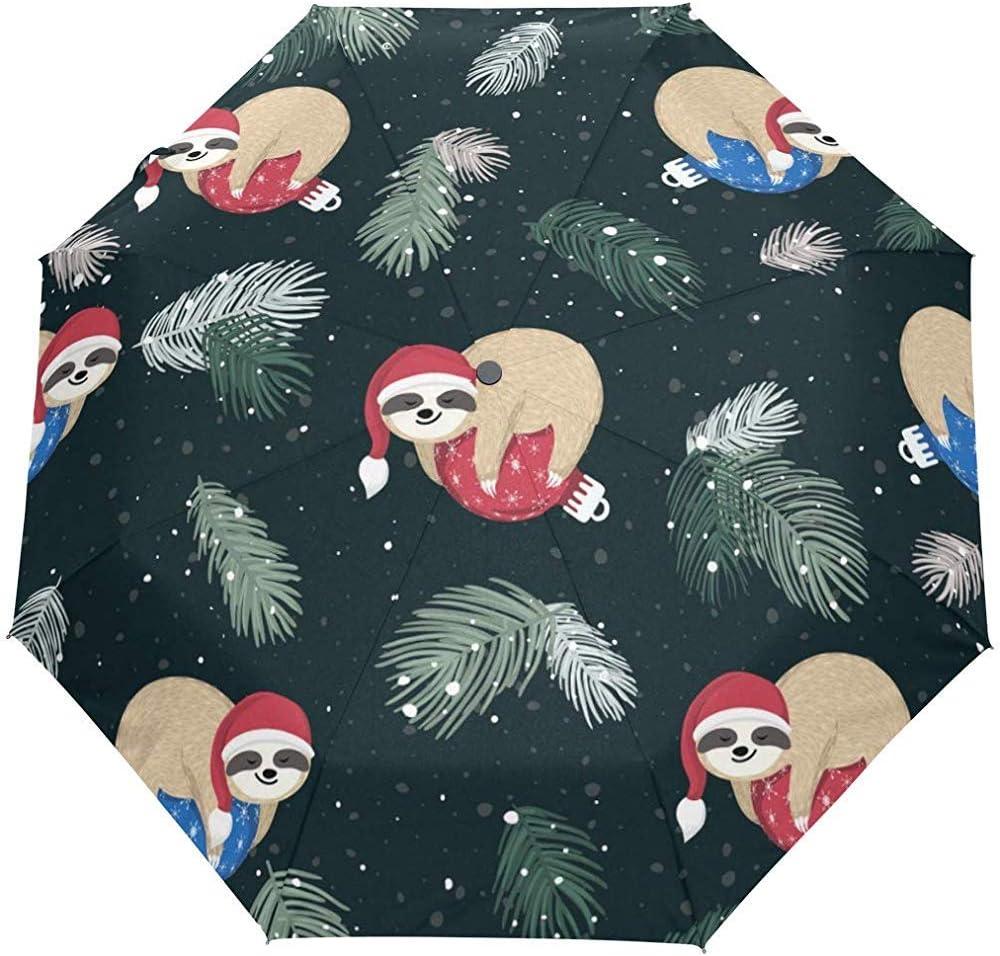 Lindo Animal Invierno Año Nuevo Paraguas Abierto Automático Paraguas de Lluvia Sol Anti UV Plegable Paraguas Automático Compacto
