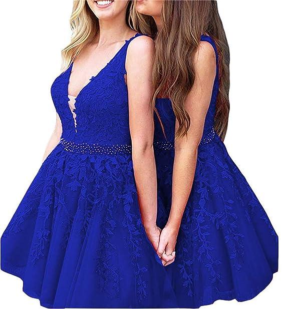 604c23356d0 Scarisee Women s Halter High Neck V-Neck Beaded Prom Evening Dresses Lace  Appliqued Long Formal