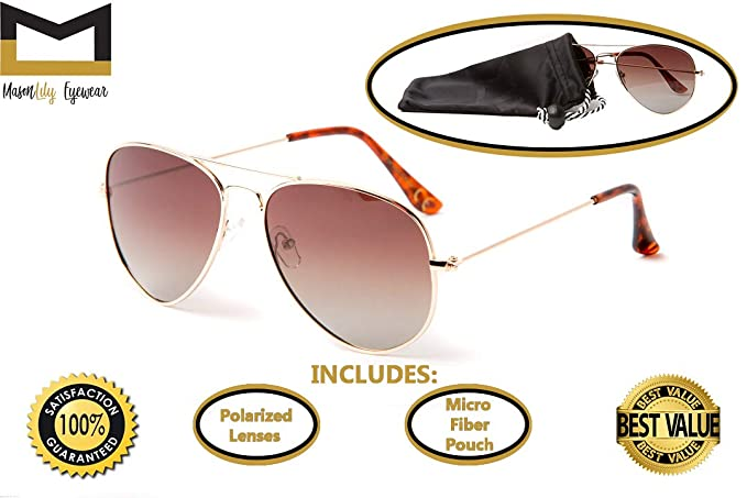 afe29404c2 Image Unavailable. Image not available for. Color  Polarized Aviator  Sunglasses for Men and Women with UV400 protection ...