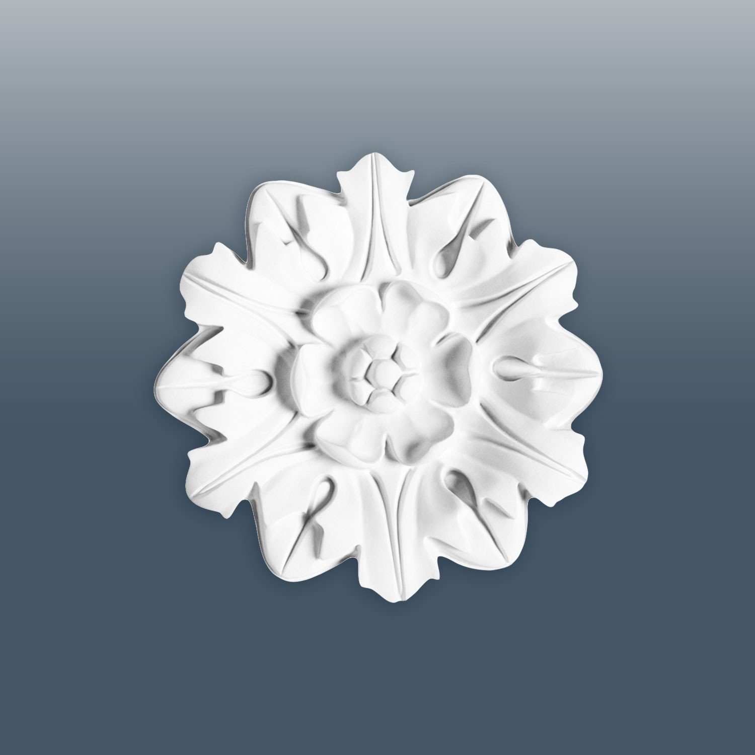 ORAC R12 Ceiling Rose Rosette Medallion Centre quality polyurethane floral leaf style white | 20 cm = 8 inch diameter