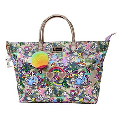 Amazon.com  Tokidoki Camo Kawaii Carry All Tote Shoulder Bag   Camo Kawaii   Shoes 4e4b31c82a091