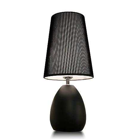 Amazon.com: Lámpara de mesa de hierro de estilo moderno y ...