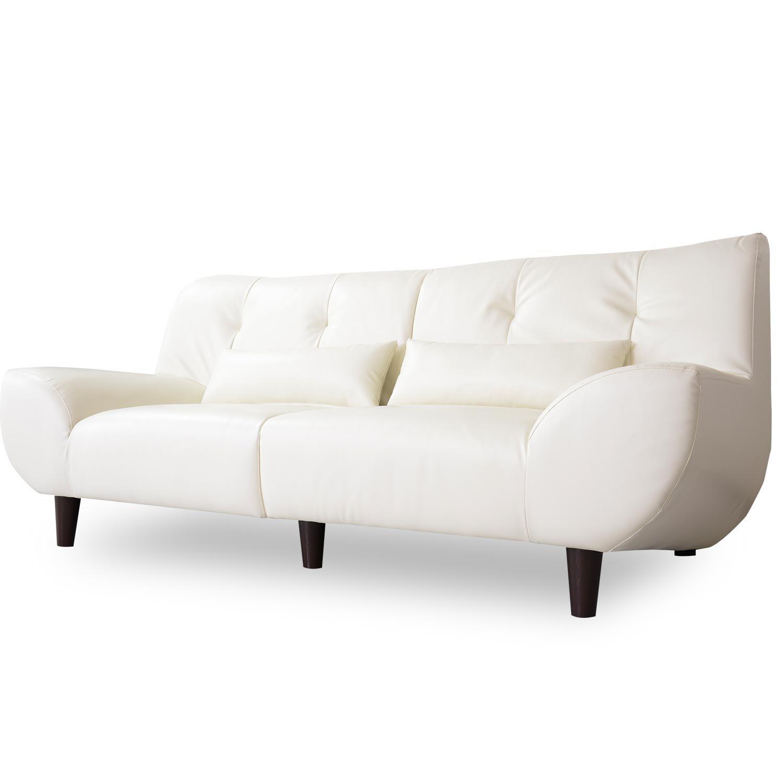 DORIS ソファ 2人掛け 幅166 ゆったりサイズ アーティフィシャルレザー ホワイト ヴィフ B01ABDCA3A Parent ホワイト