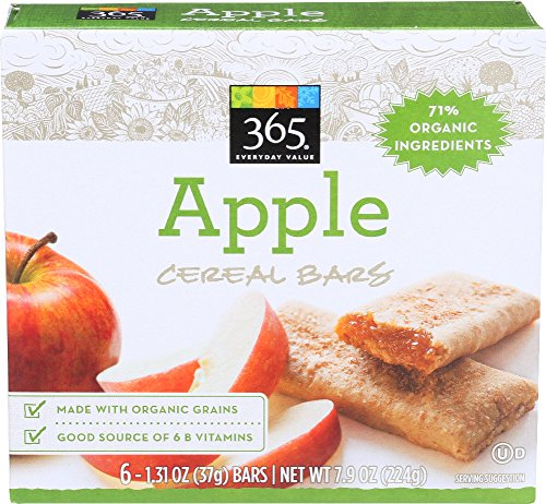 365 Everyday Value, Apple Cereal Bars, 1.31 Ounce, 6 Count