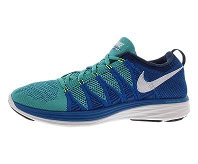 Men's Nike Flyknit Lunar 2 Bright Crimson Sport Turquoise Sneakers : S33j4771