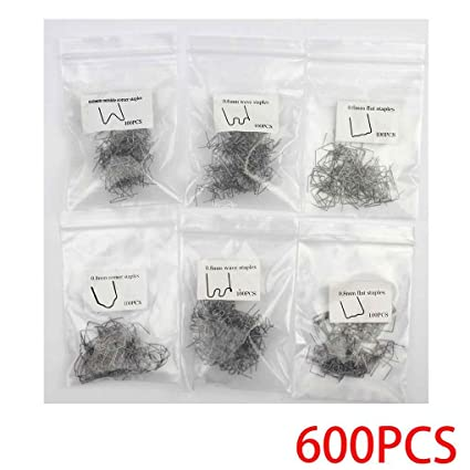 Morza 600PCS / Set 0,8 mm 0,6 mm de Acero Inoxidable Grapa