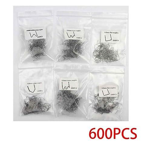 Morza 600PCS / Set 0,8 mm 0,6 mm de Acero Inoxidable Grapa