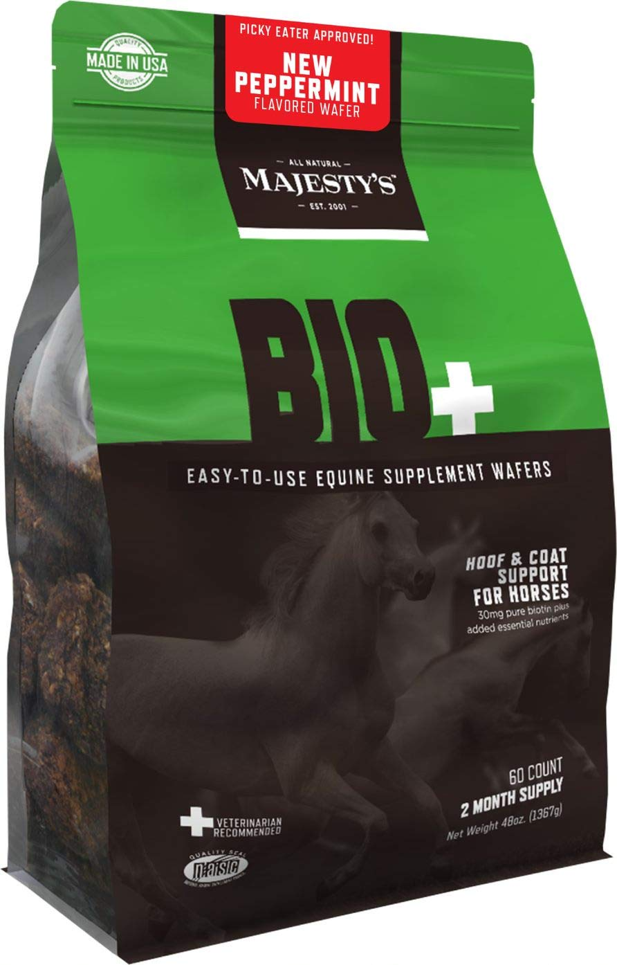 Majestys Bio Plus Hoof Peppermint Flavored Wafers, 60 Day Supply