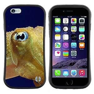 "Pulsar iFace Series Tpu silicona Carcasa Funda Case para Apple iPhone 6 / 6S (4.7 INCH) , Fish Blue Eye Golden Ocean Swim Blue Sea"""