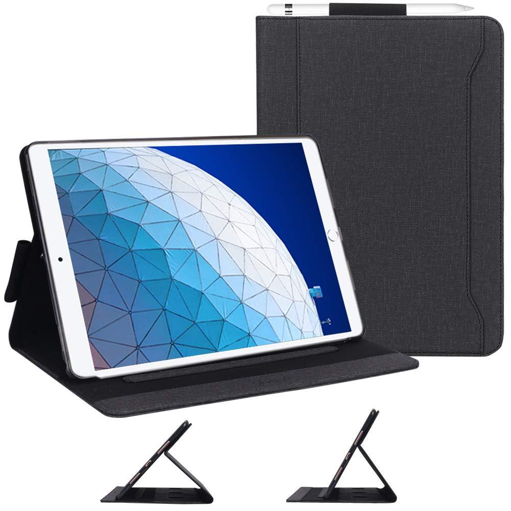 超美品の Skycase 10.5 iPad Air 3 ケース キャンバス 10.5インチ 2019 (第3世代) 2017用 キャンバス マルチアングル ビュー スタンド フォリオ ケース iPad Air 3 10.5 2019/ iPad Pro 10.5 2017用 鉛筆ホルダーとカードホルダー付き ブラック SK-1976-iPad-Air3-10.5-2019-US-BK B07QXR26XH, 東乾:f2d14c3f --- a0267596.xsph.ru