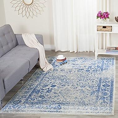 Safavieh Adirondack Collection ADR109A Grey and Blue Area Rug, 4 feet by 6 feet (4' x 6')