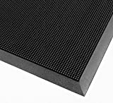 American Floor Mats Pronged Rubber Black 3' x 5' Heavy Duty 1/2 inch Thickness Scraper Mat