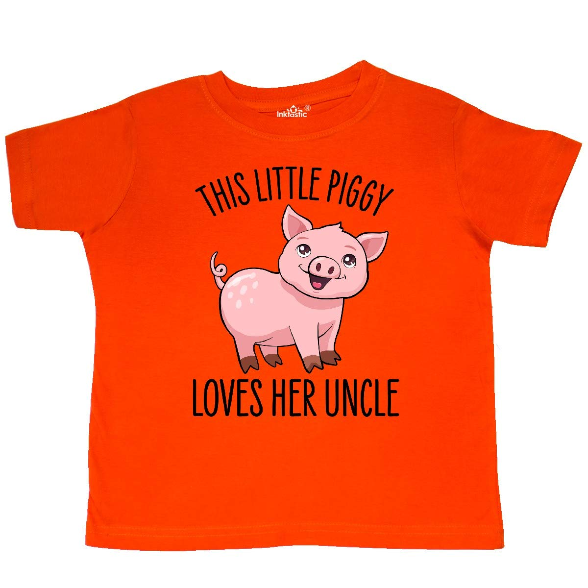 Cute Toddler T-Shirt inktastic This Little Piggy Loves Her Uncle