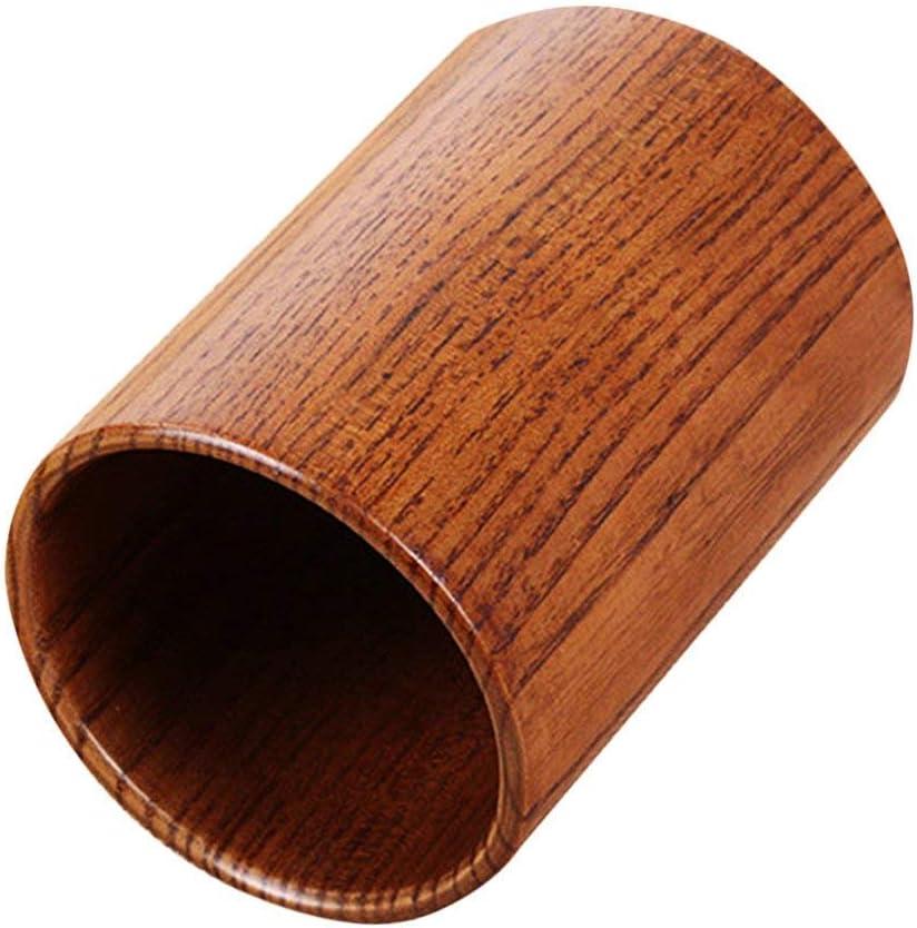 SGerste Porte-couverts rond en bois pour ustensiles de cuisine Marron L