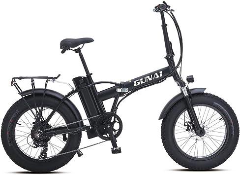 GUNAI Bicicleta Eléctrica 500W 20 Pulgadas 48V 15Ah Neumático ...