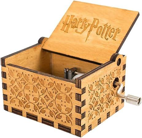 FOONEE Harry Potter Caja de música, Cajas de Madera Tallada a Mano, Caja de música de manivela Tallada Antigua, Caja de música para decoración del hogar, Juguetes, Manualidades, Regalo: Amazon.es: Hogar