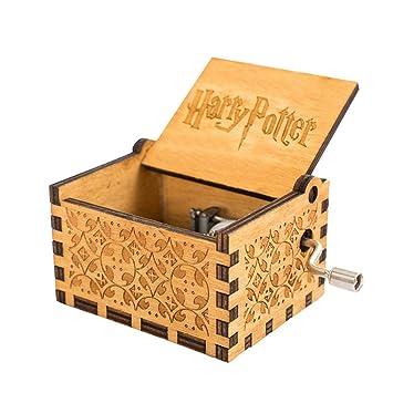MOGOI Caja de música de Harry Potter, manivela Hecha a Mano, Caja Musical Tallada en Madera, Juguete el Dulce de la canción: Amazon.es: Hogar