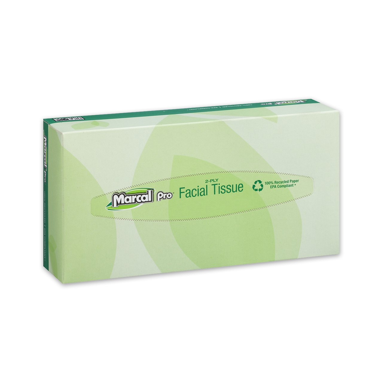 30 Boxes Per Case 02930 100 Tissues in a Flat Tissue Box 100/% Recycled Soft Tissue Paper Marcal Pro Facial Tissue
