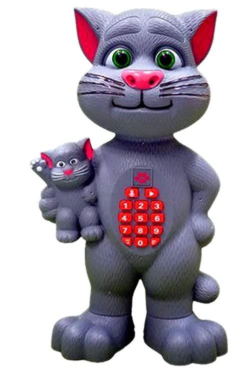 Buy Rk Toys Big Size Intelligent Touching Talking Tom Cat And Baby