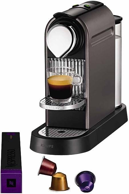 Krups YY1470FD Nespresso Citiz - Cafetera de monodosis, color gris: Amazon.es: Hogar