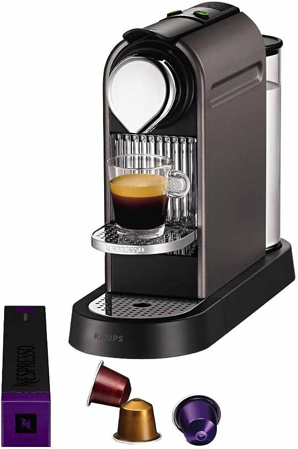 Krups YY1470FD Nespresso Citiz - Cafetera de monodosis, color gris ...