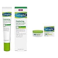 Cetaphil Hydrating Eye Gel-Cream 0.5 Fl. Oz with Rich Hydrating Night Cream with Hyaluronic Acid, 1.7 Ounce
