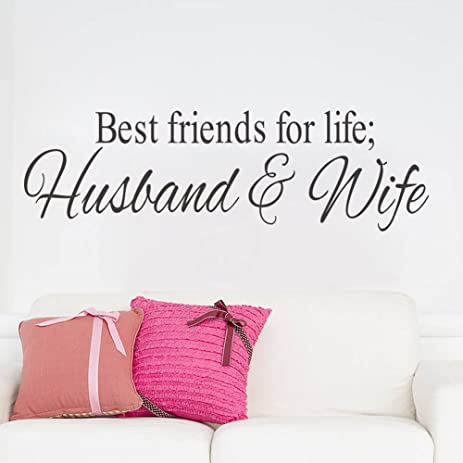 Amazon Best Friends For Life Husband And Wife Quotes Vinyl Wall Enchanting Images Quotes Husband And Wife
