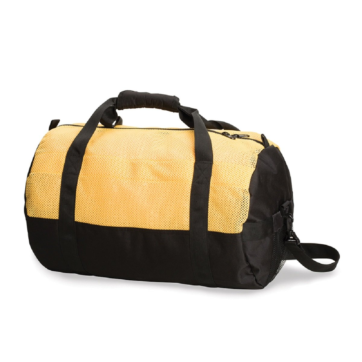 STANSPORT MESH TOP ROLL BAG - 12 IN X 20 IN - YELLOW/BLACK, Case of 12