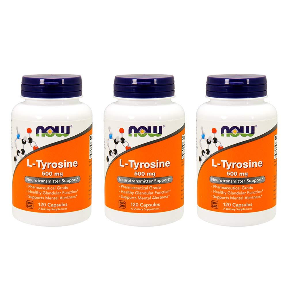 L-Tyrosine 500 mg – 120 caps Pack of 3