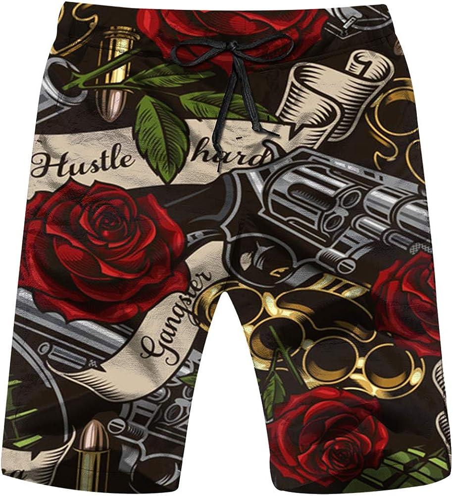 Zul Spring Landscape 2 Mens Swim Trunks Summer Beachwear Board Shorts Quick Dry Print