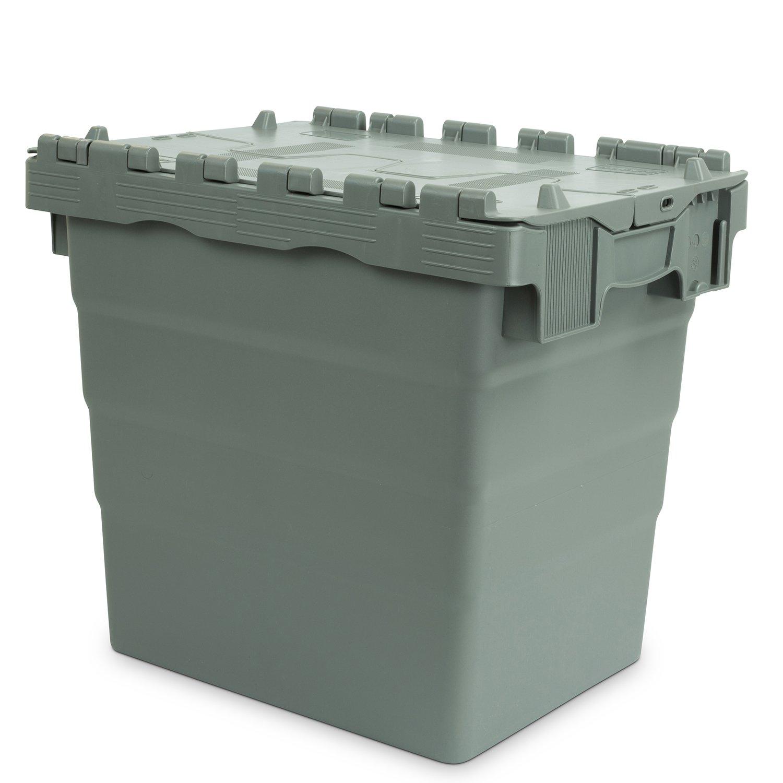 color gris Hans 22600453 Schourup 400 x 300 x 365 mm Recipiente reutilizable con tapa