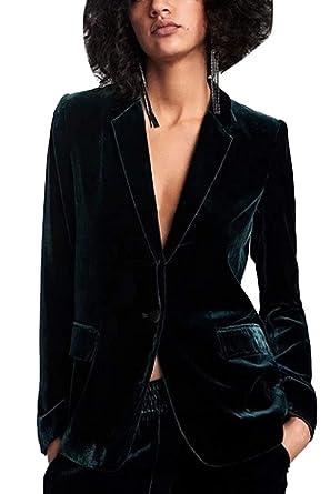 Fanvans Womens Classic Suit Long Sleeve Velvet Slim Fit ...
