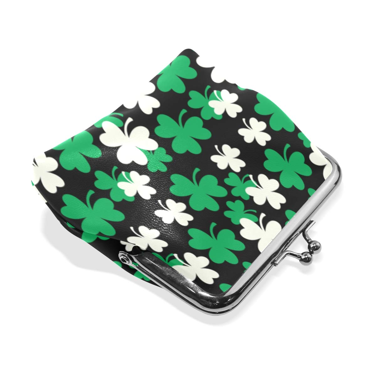 St Coin Purse Buckle Vintage PU Pouch Kiss-lock Wallet for Women Girl