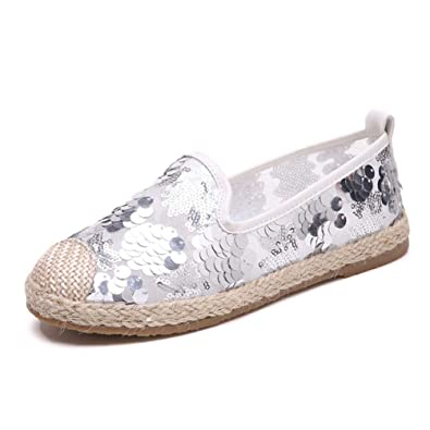 b7815e278e2 Amazon.com | JOYBI Women Flat Loafers Round Toe Bling Summer ...