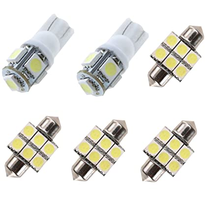 Amazon.com: For Hyundai Elantra Led Interior Lights Led Interior Car Lights Bulbs Kit White 6Pcs 2011-2018: Automotive