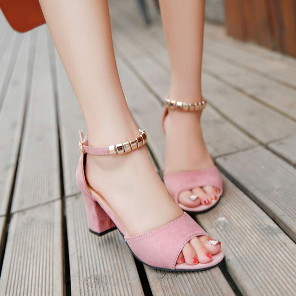 Schuhe Damen Sommer Sandalen Sandaletten mit Absatz Pumps Damen Fesselriemen Schuh Sommerschuhe Keilabsatz Abendschuhe Kn/öchel Platz Abs/ätze Sandalen