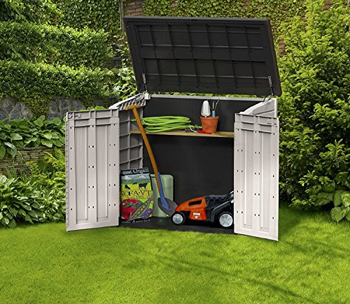 Keter store it out midi 4 3 x 2 5 outdoor resin horizontal for Garden shed uae