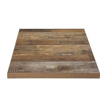 Chiner - Tablero de mesa cuadrado 60 cm. Oscuro: Amazon.es ...