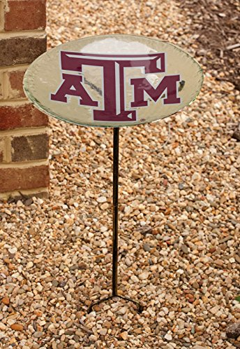 NCAA Staked Bird Bath NCAA Team: Texas A&M by Team Sports America