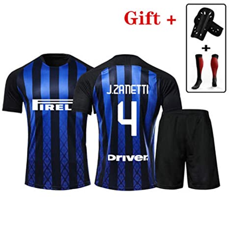 HS-HCF.HW Camiseta de fútbol Inter Milan No.4 Zanetti Custom ...