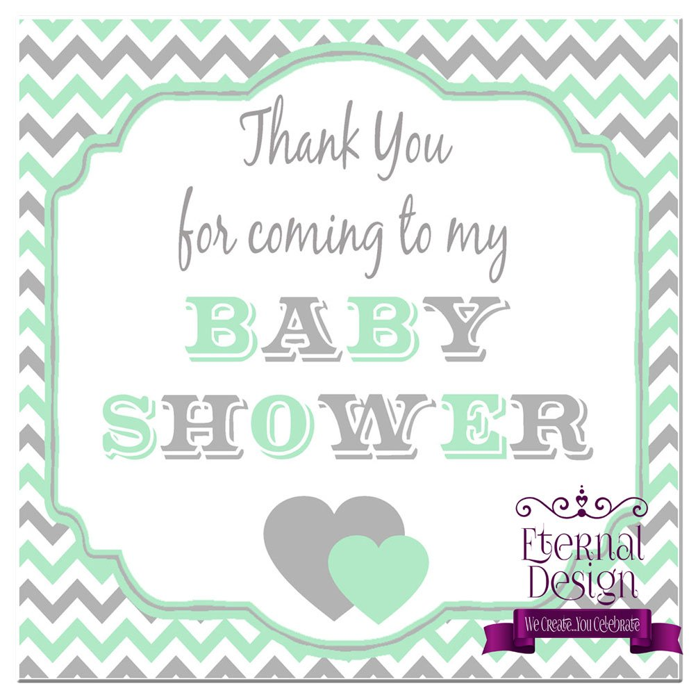Eternal Design 24 x 40mm Square Baby Shower White Stickers BSSS 3