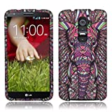 lg g2 custom case - Nextkin LG Optimus G2 (AT&T, Sprint, T-Mobile Only) D800 D801 D802 LS980 Silicone Skin Soft TPU Gel Protector Cover Case - Elephant Head Aztec