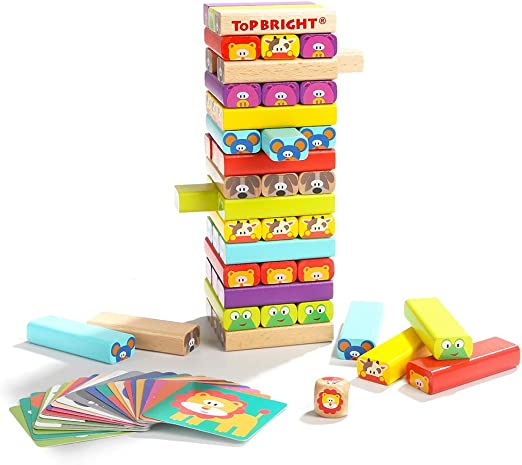 GWLTV Empujar los Bloques de construcción de la Torre los niños de Juguetes educativos 4-6 años de Bombeo primarios y Secundarios Juegos de Mesa Edificio: Amazon.es: Hogar