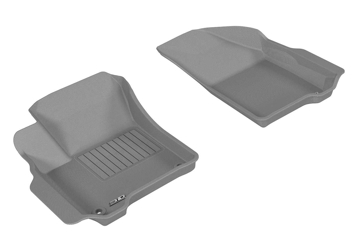 3D MAXpider Front Row Custom Fit All-Weather Floor Mat for Select Dodge Journey Models L1DG01201502