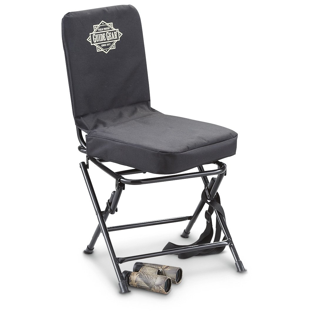 Guide Gear Swivel Hunting Chair Black