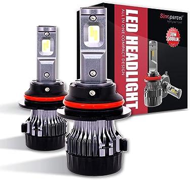 Set 2 100W 12000LM 6000K White LED headlight 9007 HB5 Hi //Low Beams Bulbs lights